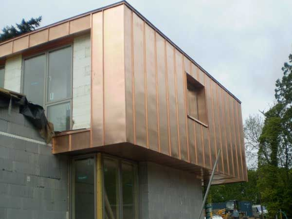 Bronze Finish Copper Cladding Metal Roof Ltd Less