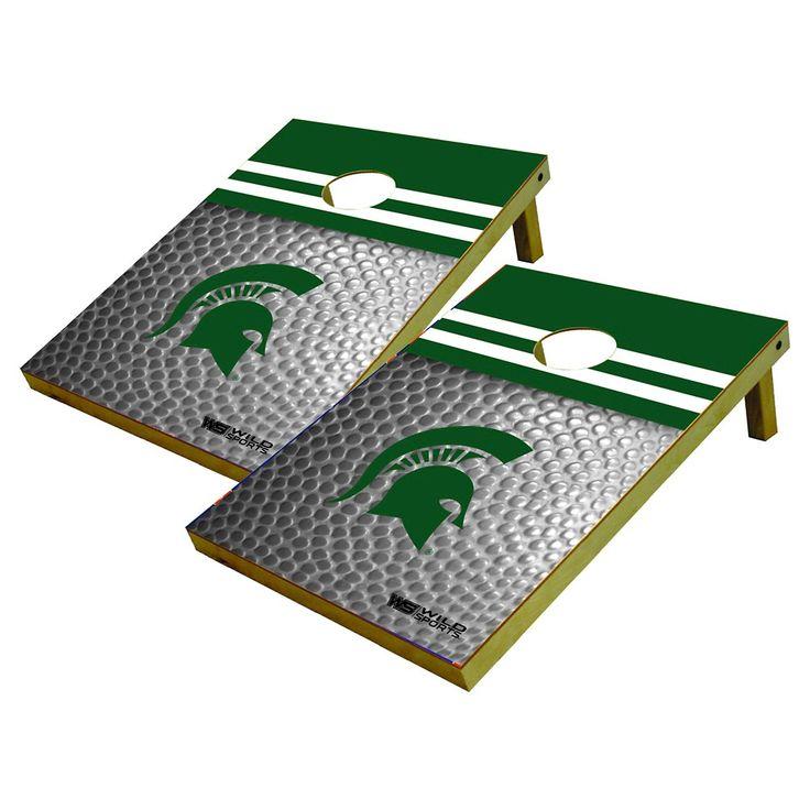Michigan State Spartans Wild Sports Platinum Shield Cornhole Bag Toss Set - 2x3 ft.