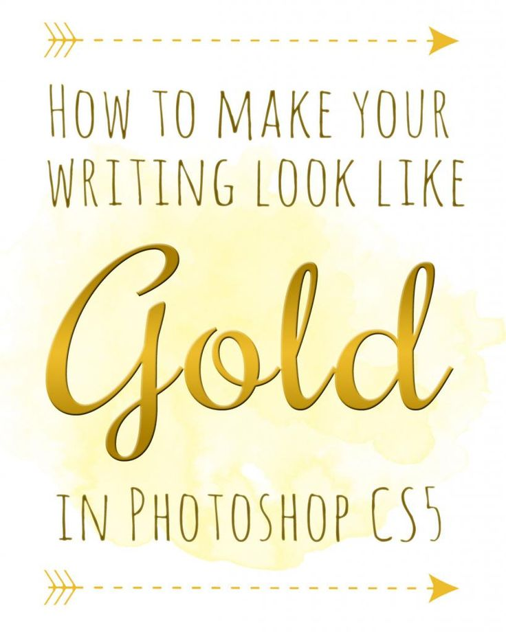 The Sprinkles on my Ice Cream: How to Make Text Look Like Gold in Photoshop CS5