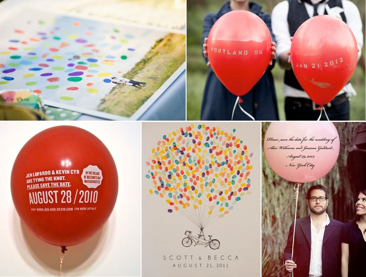 Balloon Save The Date Ideas