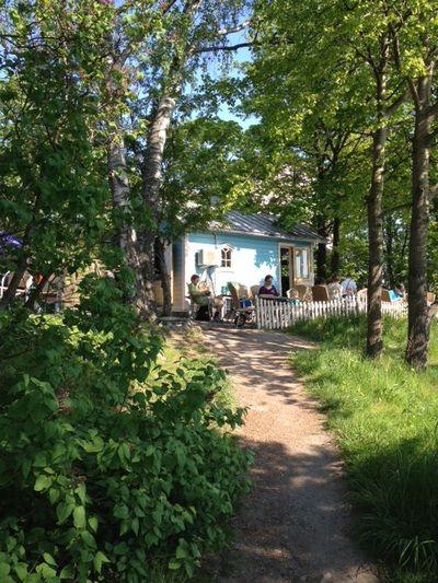Sinisen Huvilan Kahvila Töölönlahdella
