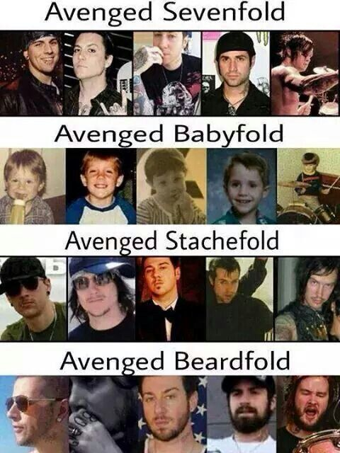The faces of Avenged Sevenfold...Lol love it!! <3 :))