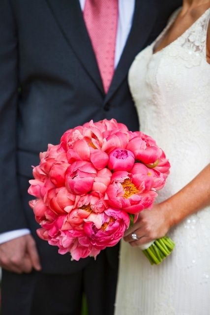 Incredible coral peonies... Drool! this looks almost exactly like my own wedding bouquet