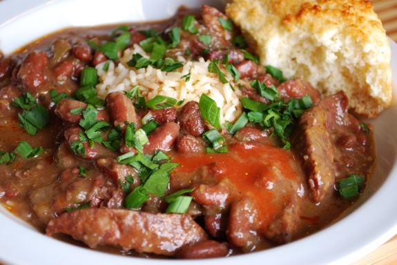 Brian's favorite Creole dish.  This is Paul Prudhomme's red beans and rice--I haven't found a better recipe.