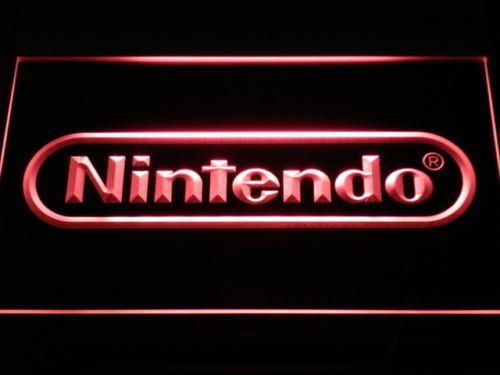 New Nintendo L.E.D Game Sign, Bar, Man Cave, Game Room Plastic Crafts