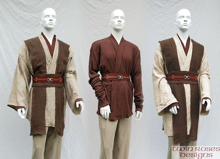 These Jedi tunics show good Alterran colors, and are close to the right feel (but we'll need to personalize the style)