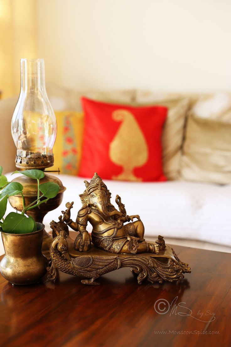 Brass Ganesha and Lamp! Copyright of http://monsoonspice.com