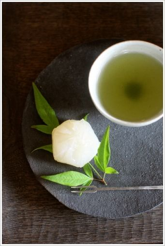 Wagashi (Japanese sweets) and green tea