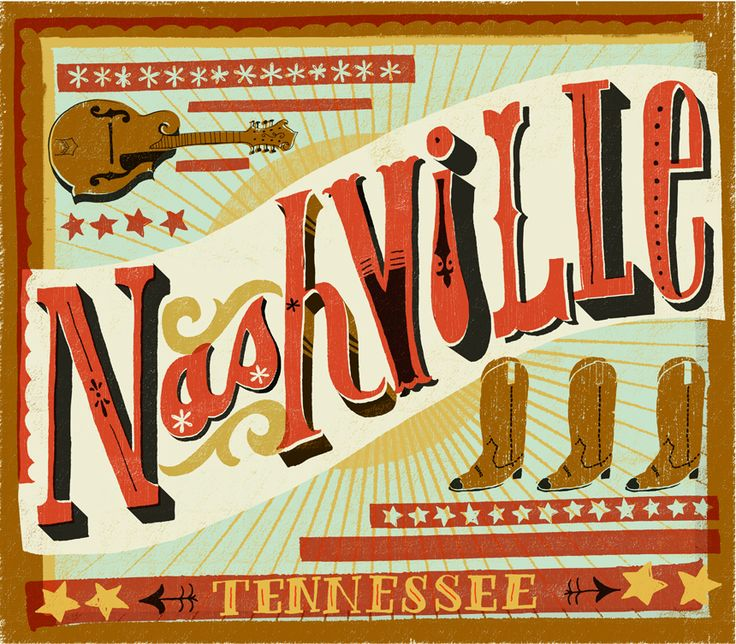 Nashville: Music Cities, Buckets Lists, Favorite Places, Kate Mcdevitt, Country Girls, Nashville, Illustration, Art Prints, Mary Kate