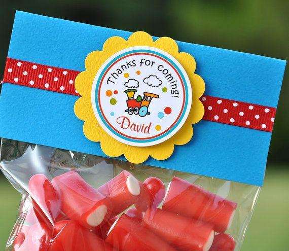 Choo Choo Train Favor Bags in Primary Colors by thepaperkingdom, $13.00
