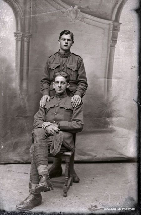 95 years ago, in a French village a short march from the allied frontlines, a husband and wife team began a unique historical record of the First World War.These photos were discovered in Feb. More than three thousand fragile photographic glass plate negatives were found in the attic of a dilapidated farmhouse. - Lost Australian soldiers found