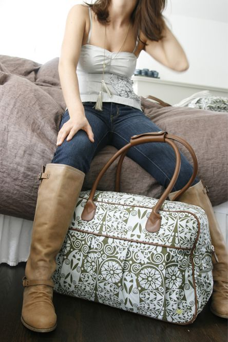 Amy Butler Solstice collection. my dream travel bag. Ironically called the Dream Traveller Carry-On. $260