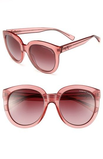 AX Armani Exchange 'Transparent Glam' 53mm Sunglasses available at #Nordstrom