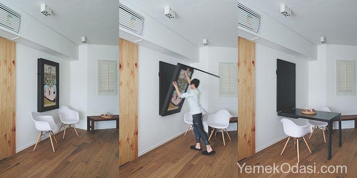 Duvara Monteli Yemek Masaları Küçük metre karelere sahip yemek odaları yada mutfaklar için alternatif fikirler sunmaya devam ediyoruz. Bugün ki konumuz , yemek odası için ayırdığınız alanı ve mutfağınızı etkin bir şekilde kullanmanızı sağlayan duvara monteli yemek masaları.    Siyah ve gri kombinasyonuyla mutfak dolapları,  http://www.yemekodasi.com/duvara-monteli-yemek-masalari/  #DuvaraMonteMasa, #DuvaraSabitlenenMasa, #DuvaraSabitlenenYemek