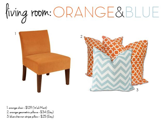 50 best Orange and blue decor images on Pinterest Throw pillow