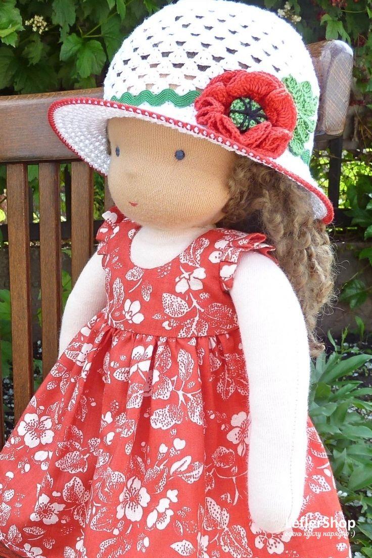 Сегодня замечательный солнечный день для загородной прогулки. На пикники юные леди обычно надевают шляпки! Ажурные, цветочные! Эльза будет самым красивым цветком на лугу. А ваша куколка - леди?  . . . . . . Платье, носочки, туфли, шляпка. Пышное платье с крылышками, отделано кружевом. Шляпка связана крючком, поля прекрасно держат форму. . . . . . #leflershop #лефлершоп #кукольная_одежда #вальдорфская_кукла