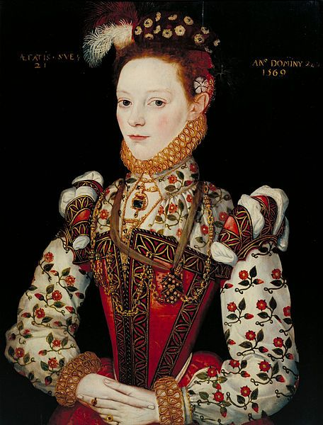 File:British School 16th century - A Young Lady Aged 21, Possibly Helena Snakenborg.  1569.