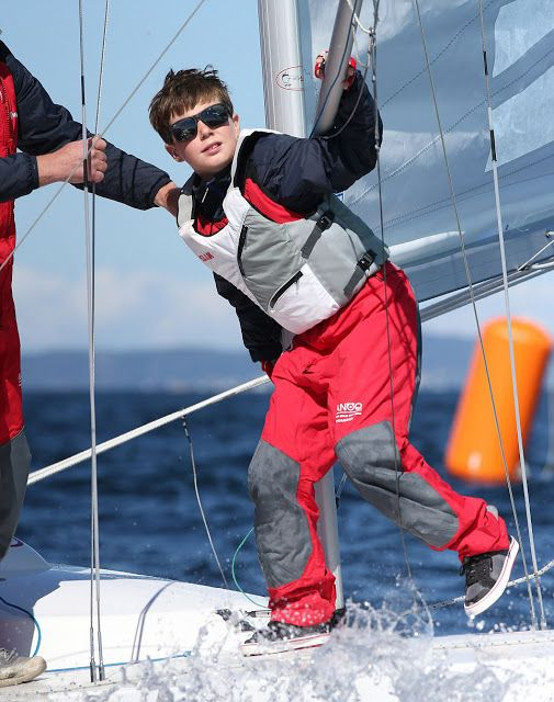 Prince Christian of Denmark (pictured), is also a keen sailor - he attended a dragon race during the Hamlet Dragon Gold Cup in 2016 in Denmark