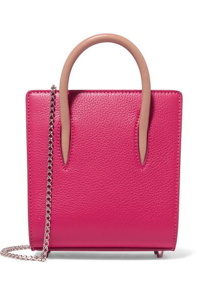 Christian Louboutin - Paloma Nano Studded Textured-leather Tote - Pink - one size