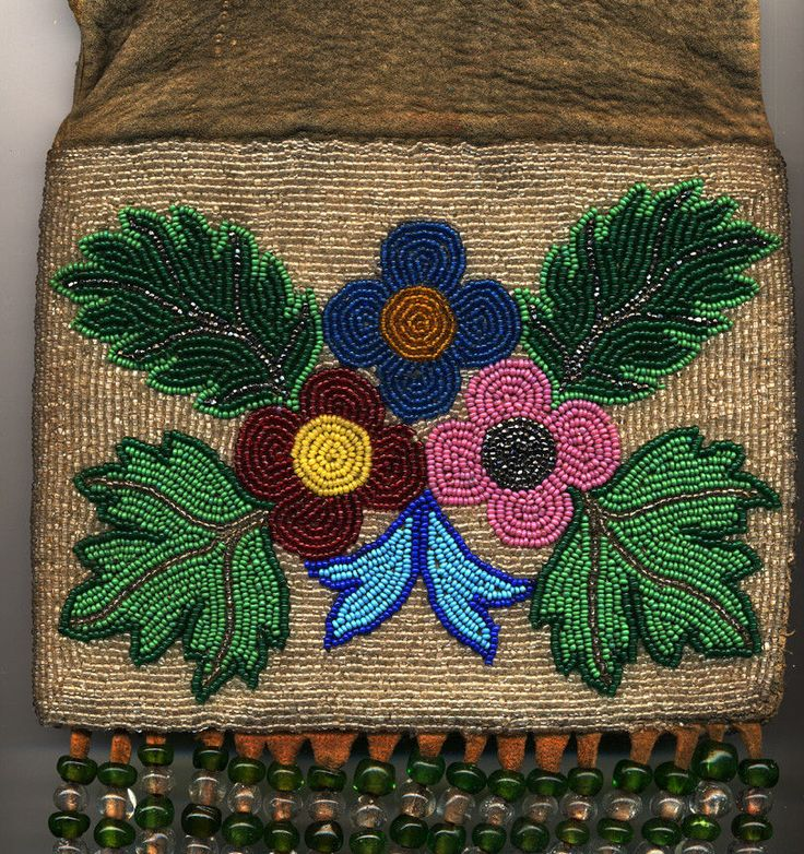 Old Blackfoot / Plains Cree Antique Native American Indian Pipe tobacco bag