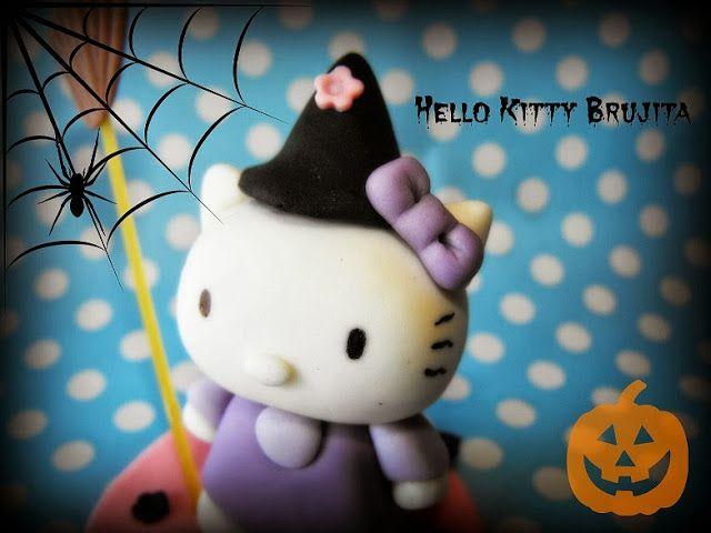Hello Kitty brujita para Halloween paso a paso