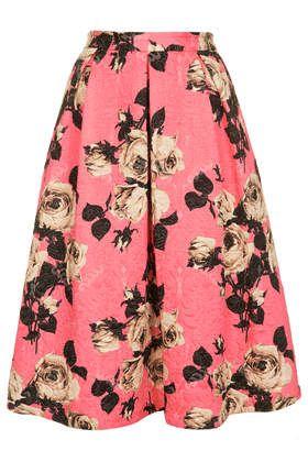 Rose Texture Midi Skirt