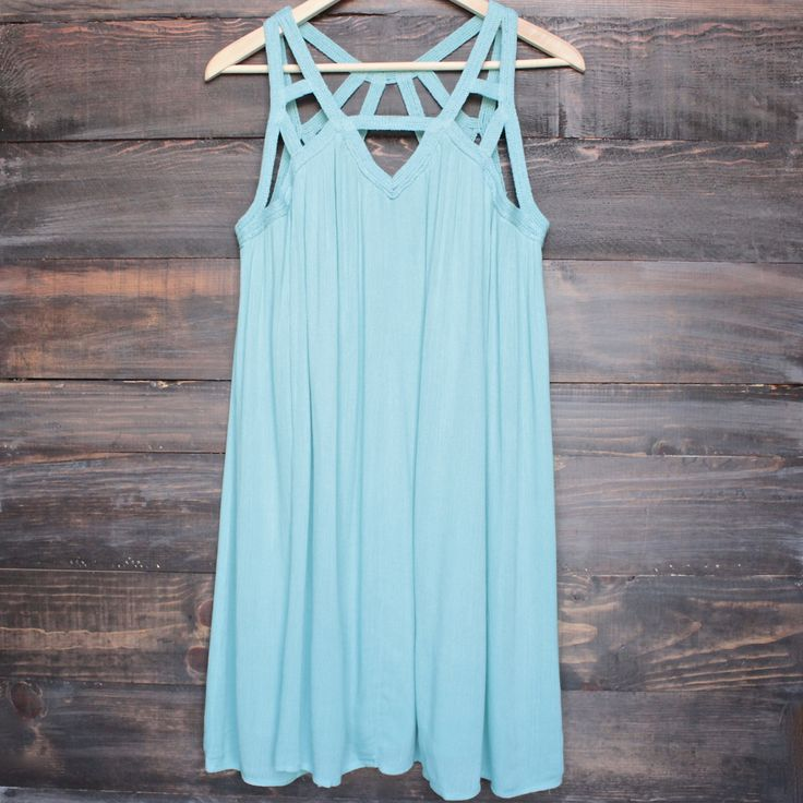 cage flowy dress in mint - shophearts - 1