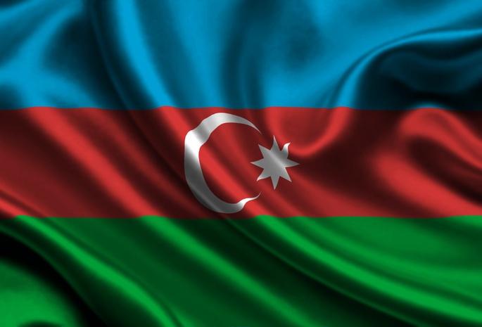 Azerbaijan, Satin, Flag | Flaggor/Flags | Pinterest