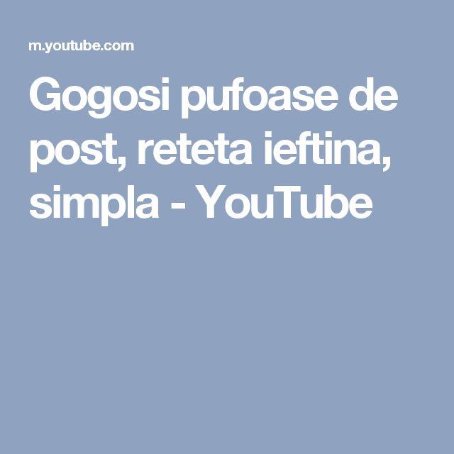 Gogosi pufoase de post, reteta ieftina, simpla - YouTube
