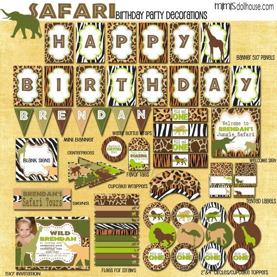 Hey, I found this really awesome Etsy listing at https://www.etsy.com/listing/168299620/safari-party-decorations-printable