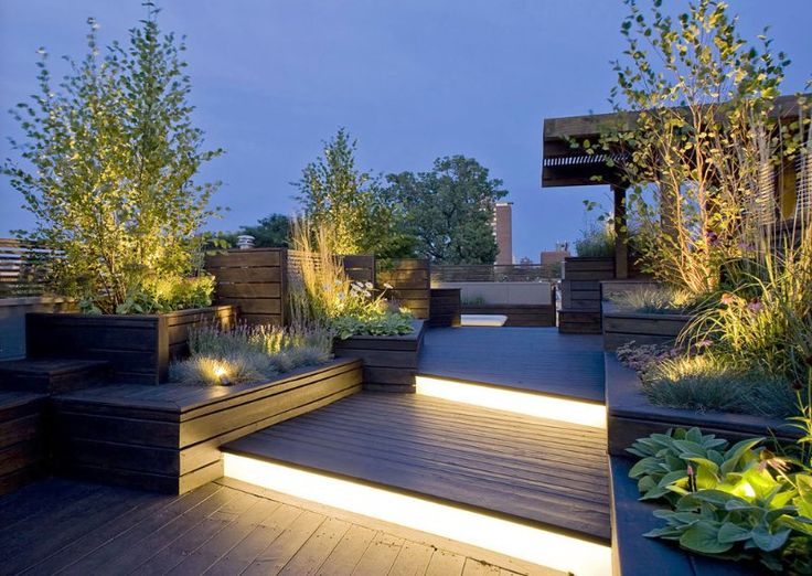 Chicago sculptural roof deck contemporary landscape chicago dspace studio ltd