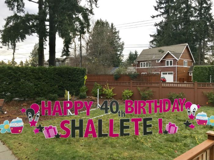 Celebrate Your Friends 40th Birthday In A BIG Way With Our Fun Yard Signs