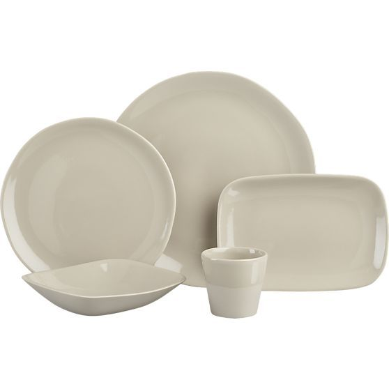 Leone Grey Dinnerware in Dinnerware Sets | Crate and Barrel