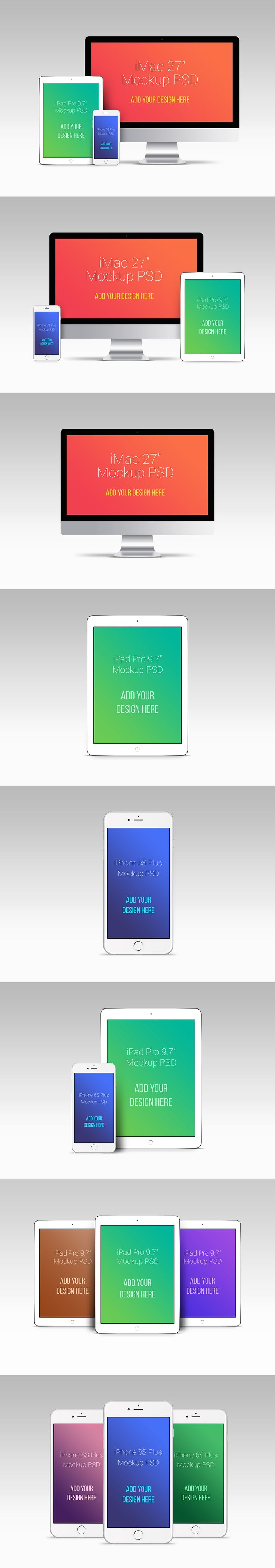 ⬇ Free download: Apple Devices PSD Mockups