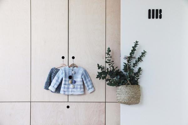 plywood closet bedroom