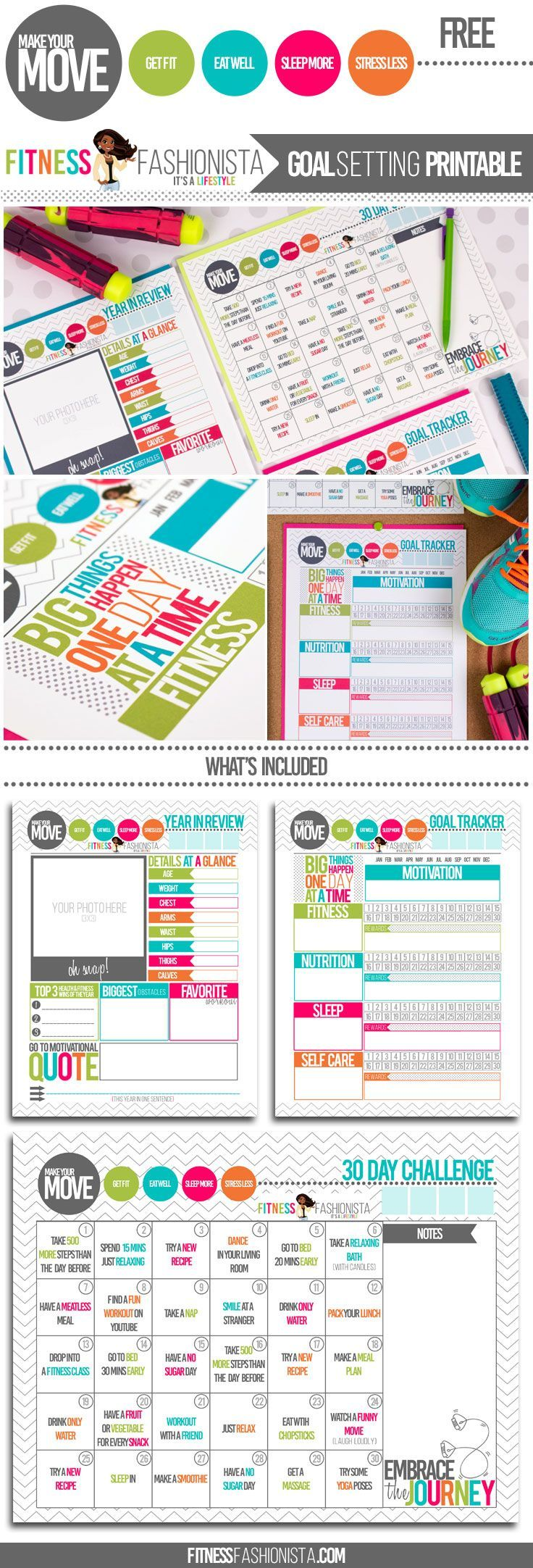 Don't just set goals this year #MakeYourMove and reach them with these free goal setting printables.