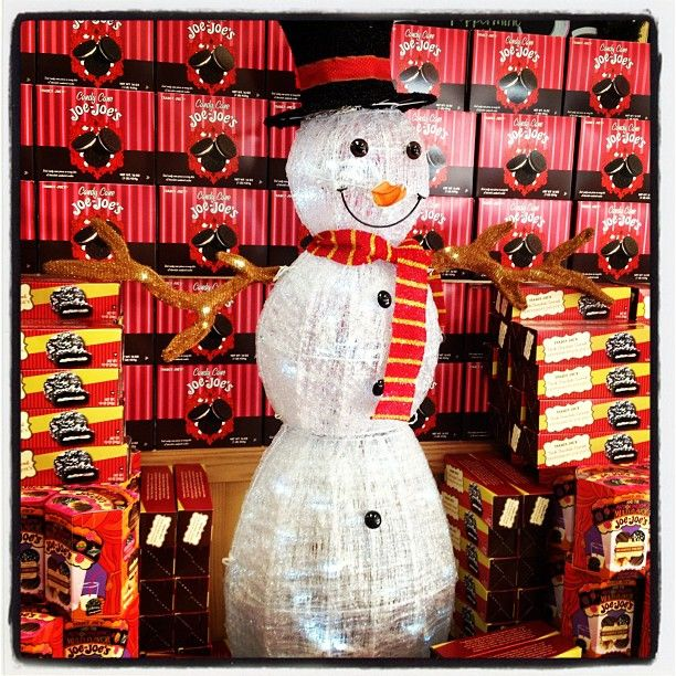 Snow man at #traderjoes guarding a mountain of cookies!Snow Man, Trader Joe, Traderjoes Guard