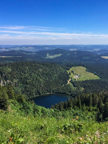 Hiking view over the Feldsee and Southern Black Forest-Hiking info. in the South…