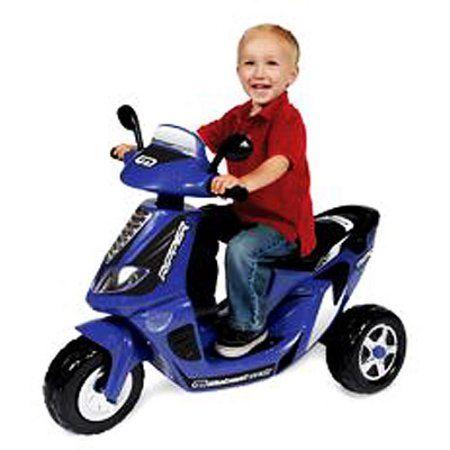 6-Volt Battery-Powered Boy's Scooter, Blue