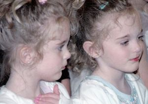 Amazing Facts About Identical Twins: 4 year old identical twins, Brianna and Karli.