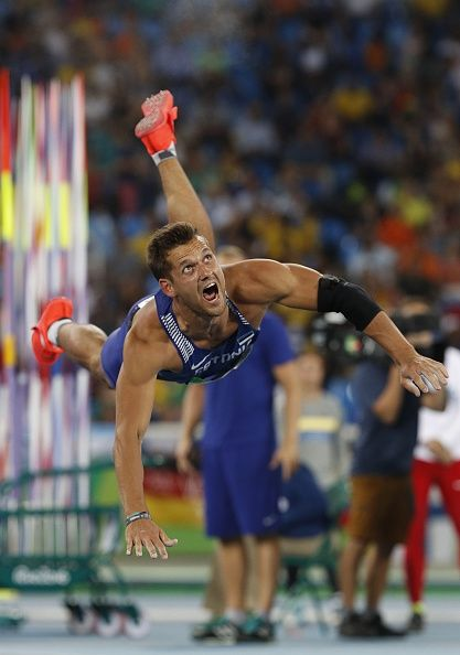 #TOPSHOT Estonia's Magnus Kirt competes in the Men's Javelin Throw Qualifying Round during the athletics event at the Rio 2016 Olympic Games at the...