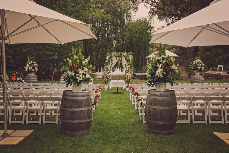 Dung ♥ Hang | Glen Ewin Estate | Ceremony set up with lots of flowers
