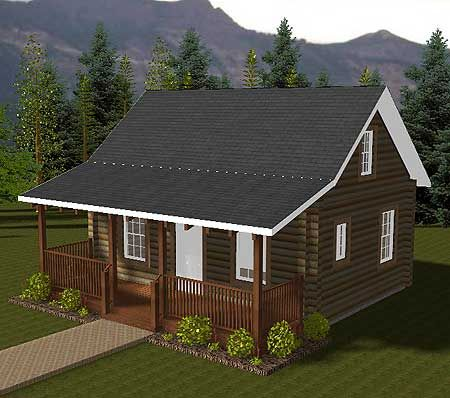 Log cabin homes this is very nice for a vacation home my dream house pinterest house plans - Small log houses dream vacations wild ...