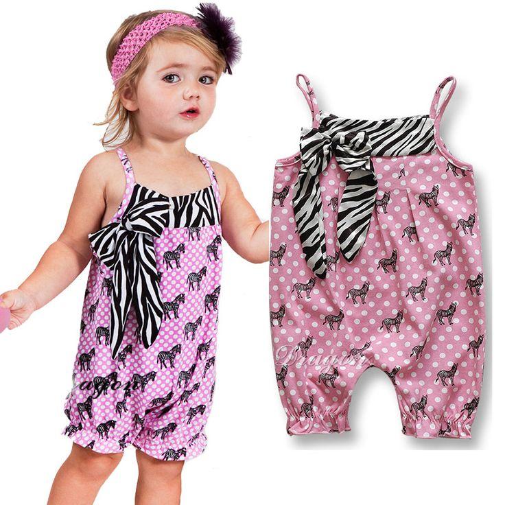 Мода Ребенка Ползунки 2016 Горячее надувательство Милый розовый белые пятна девушки подтяжки брюки для zebra pattern детская Одежда enfant