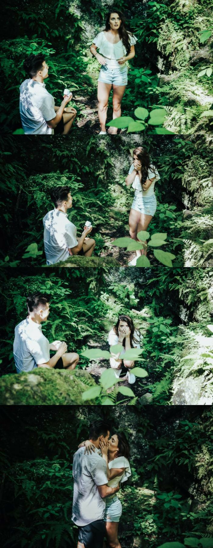 She wanted to visit the place where they had their first date, but she had no idea he would pop the question!