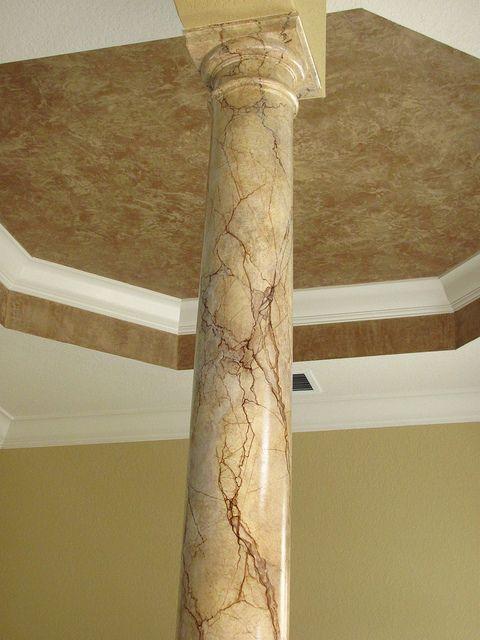Faux painted column
