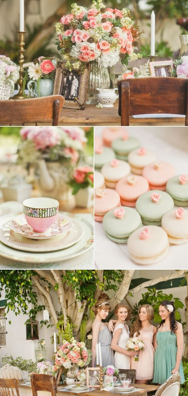 LOVE the macaroons with roses!
