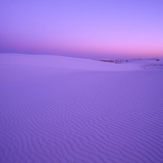 purple sand sunset White Sands National Monument, New Mexico