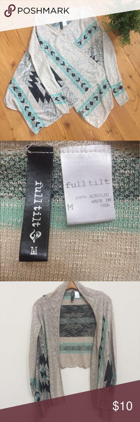 Full Tilt Aztec Prints Cardigan Sz M Pre owned Cardigan , Sz M, length 17, chest 22. It's in good condition. Super cute! Full Tilt Sweaters Cardigans