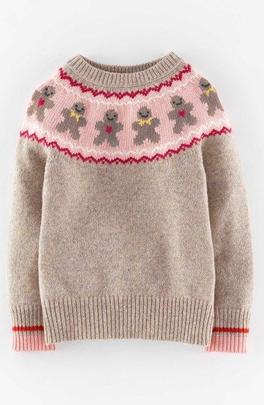Mini Boden Min Boden 'Festive' Sweater (Toddler Girls, Little Girls & Big Girls) available at #Nordstrom